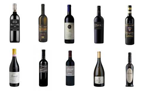Ecco la classifica dei migliori 10 vini italiani
