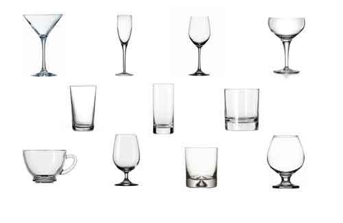 ecco tutti i tipi di bicchieri che si possono utilizzare nella preparazione dei cocktail